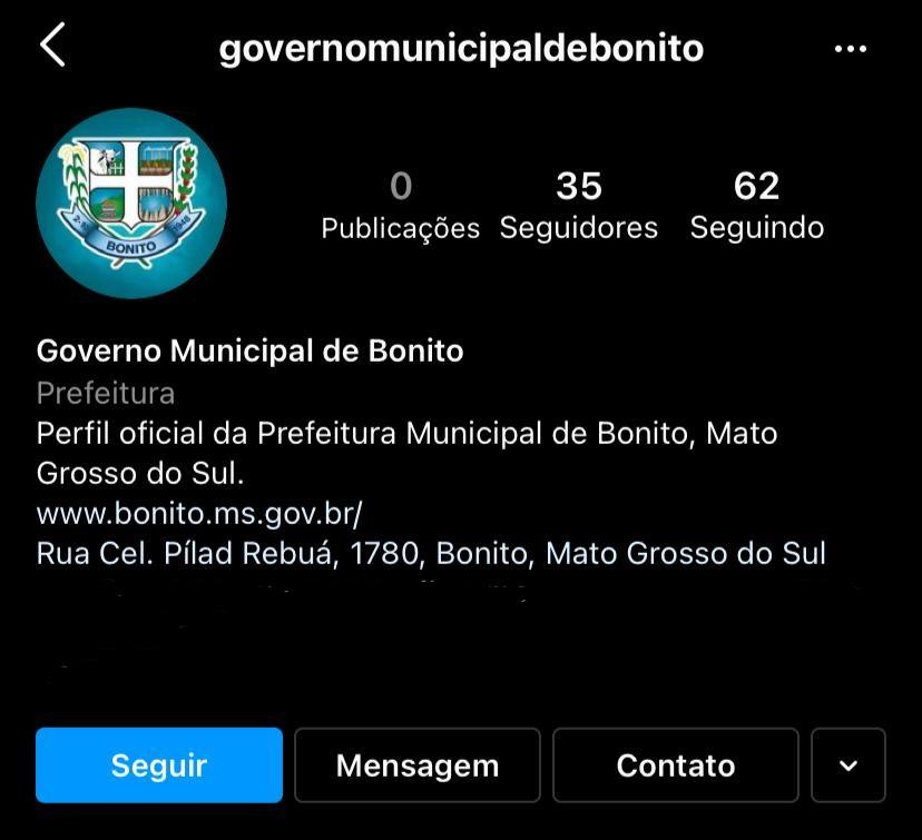 Para garantir lisura e instantaneidade na informação, Prefeitura cria conta oficial no Instagram