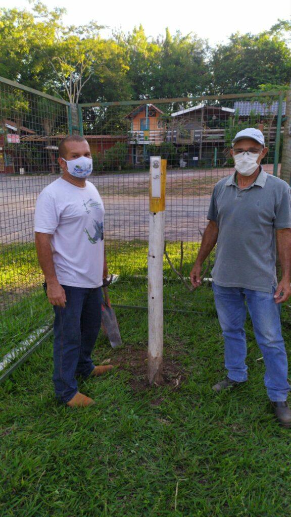 SEMA e SECTUR instalam instrumentos de acompanhamento para medição de pluviometria, turbidez e visibilidade da água do Rio Formoso no Balneário Municipal