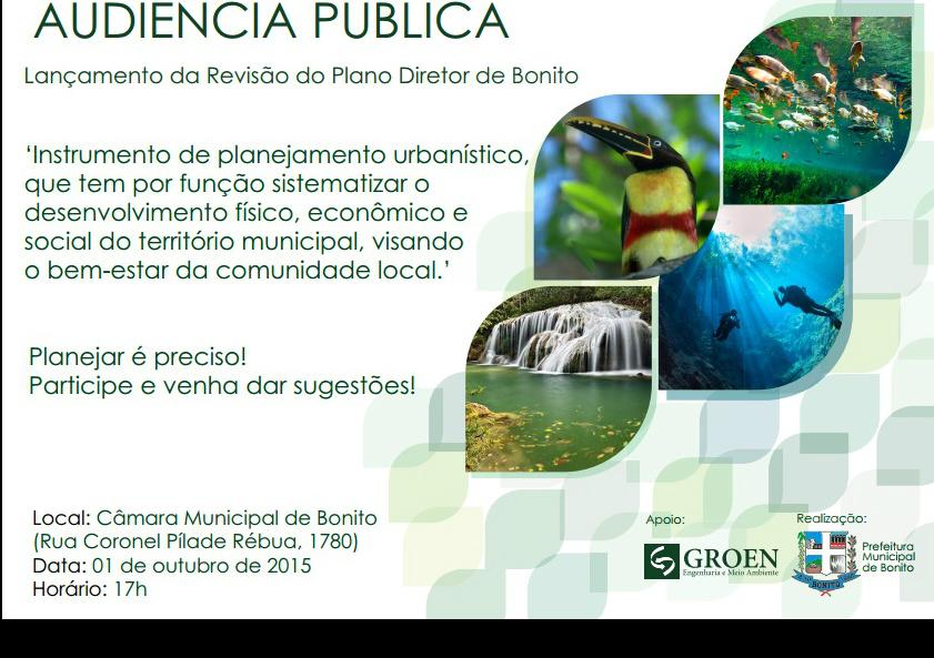 Prefeitura de Bonito convida a todos para Audiência Pública