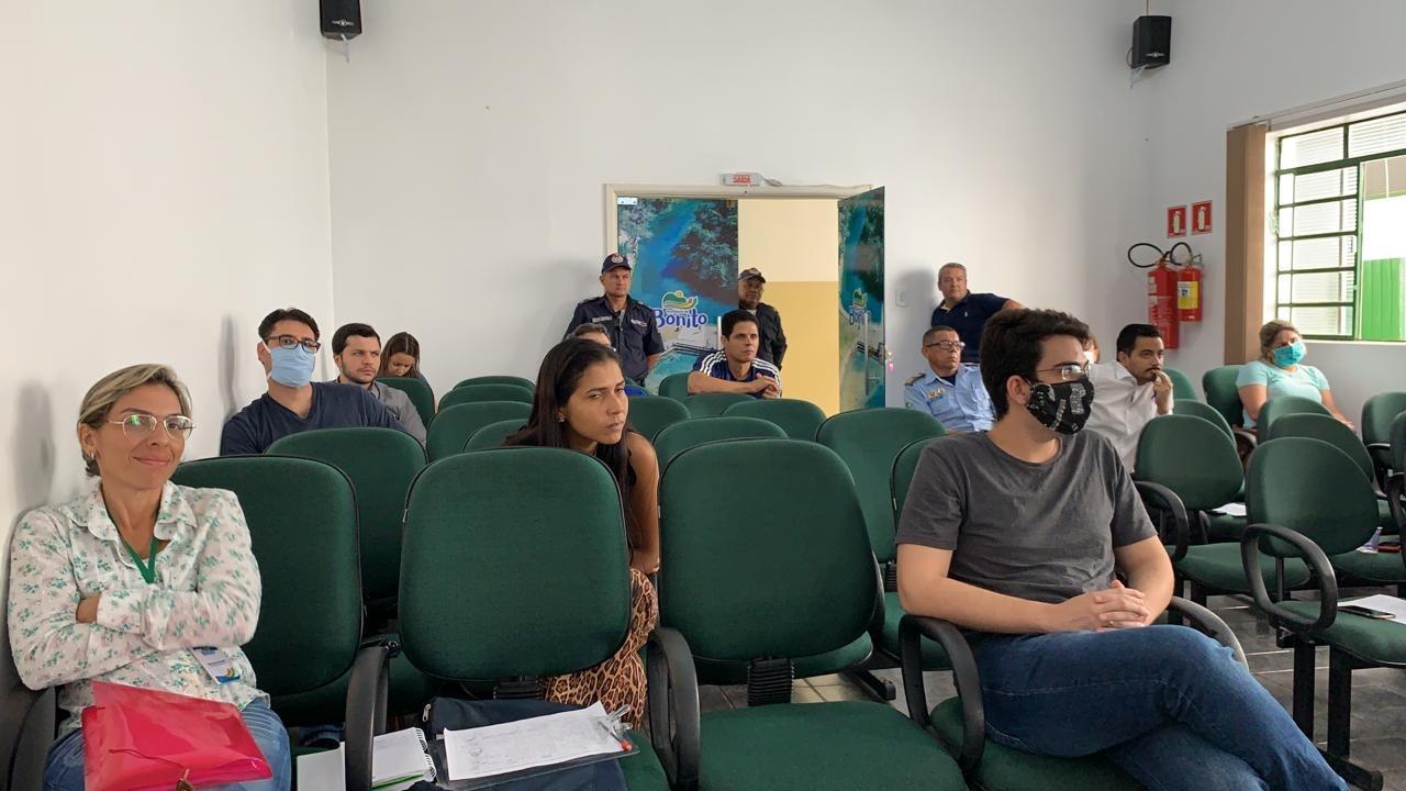 Reunião do Comitê de Enfrentamento e Combate ao Coronavírus aconteceu na manhã desta quinta-feira. Foto: Jabuty