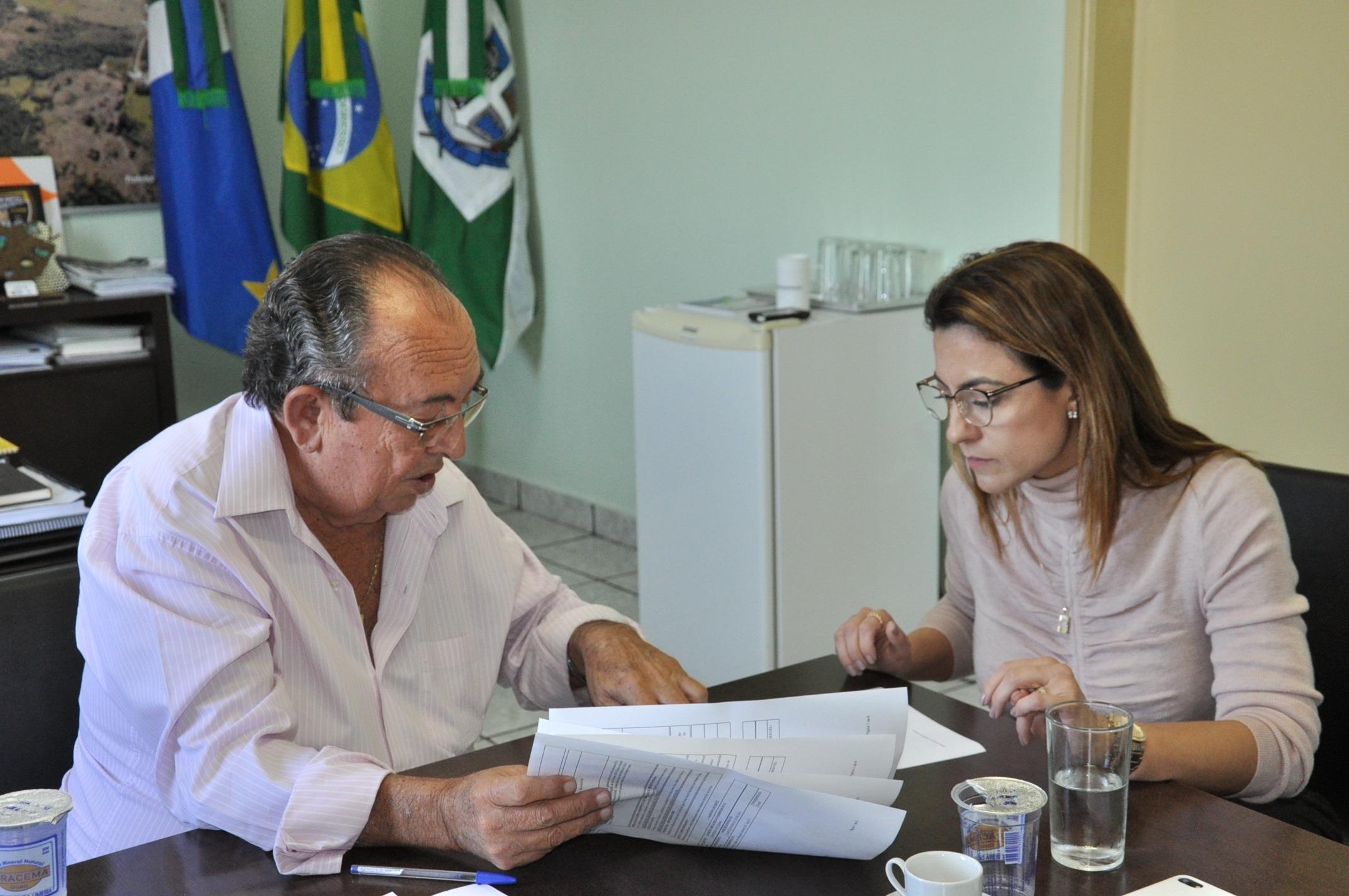 Prefeito Odilson apresenta projetos e demandas domunicípio.
